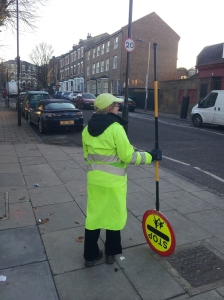 Nora, lollypop lady on Drayton Park/Martineau Road.