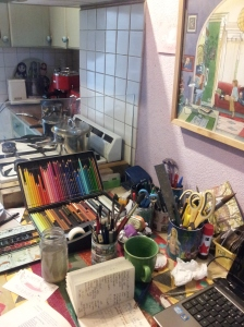 Teresa Robertson's studio is the heart of the kitchen.