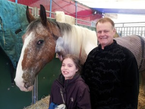 Nell, 12, meets Scooby (a rescue horse who now stars in the circus) and Martin Burton, owner of Zippos Circus.