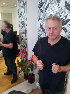 """Simon Dolin: runs Barnaby's. """"I'm 99 per cent certain it's always been a hairdressers."""""""