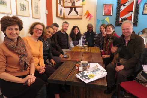 The first Islington Faces meet up was held in Finsbury Park at Blighty Cafe. (c) islington faces/feb2016