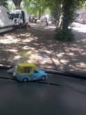 """""""The mini ice-cream van on the steering wheel is a present from a little boy who gave it to me for my big birthday on 25 April. I want to get another as there's a shop on Upper Street selling vintage toys but it's hard to get there."""""""