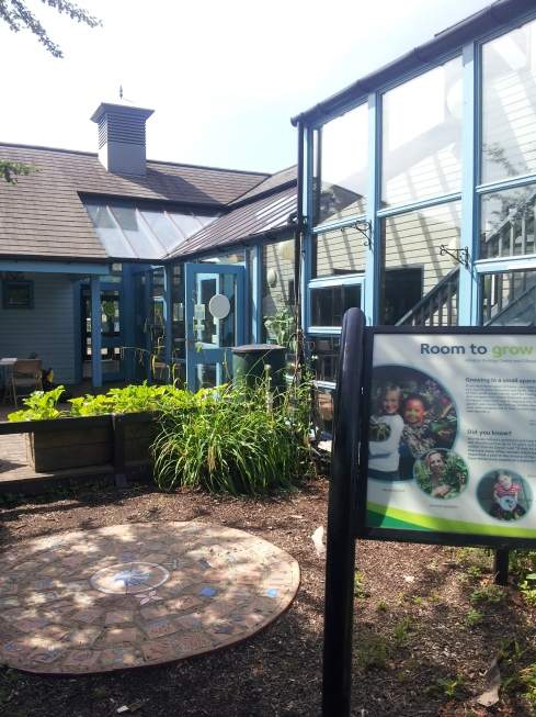 The Ecology Centre becomes a jazz stage with a cafe behind during the Gillespie Festival (on the 2nd Sunday of September).