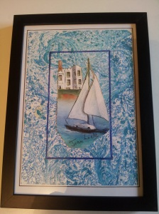 Joan Lock's flat is full of books she's written, and pictures she's painted. She is a member of a local art group and also paints when she stays at the John Lewis' staff and ex-staff holiday hotel Brownsea Castle on an island in Poole harbour.