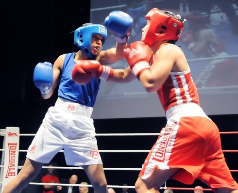 Boxing match. Photo credit Dieter Perry.