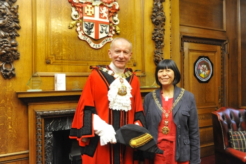 The Mayor of Islington with the Mayoress - Barry Edwards and his partner Jenni Chan.