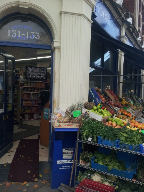 Moonlight supermarket on Holloway Road gets yet another namecheck on Islingtonfacesblog.