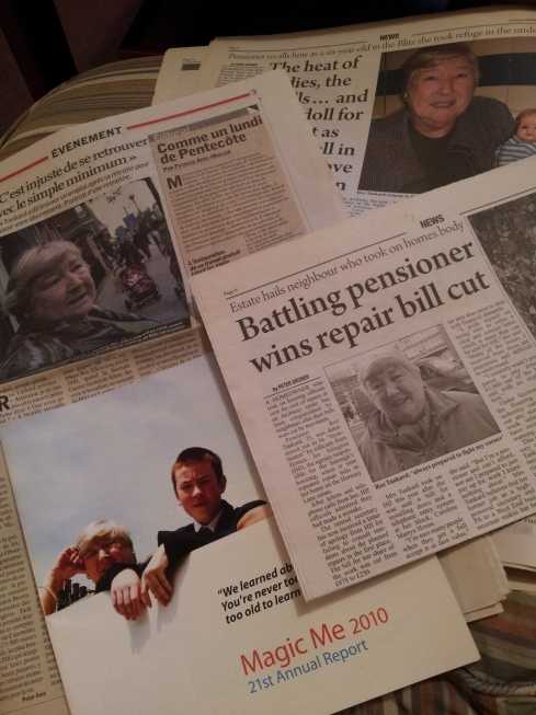 Cuttings about Ros Tankard's campaigns and community work.