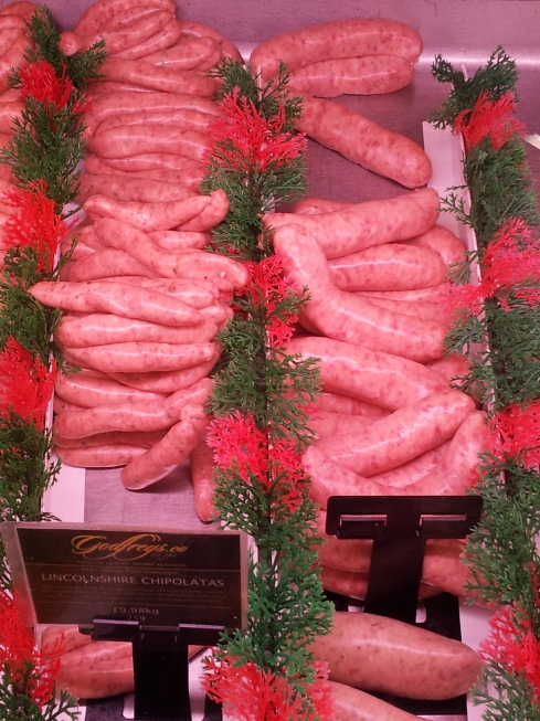 Godfrey's sausages are handmade in Finsbury Park, N4.