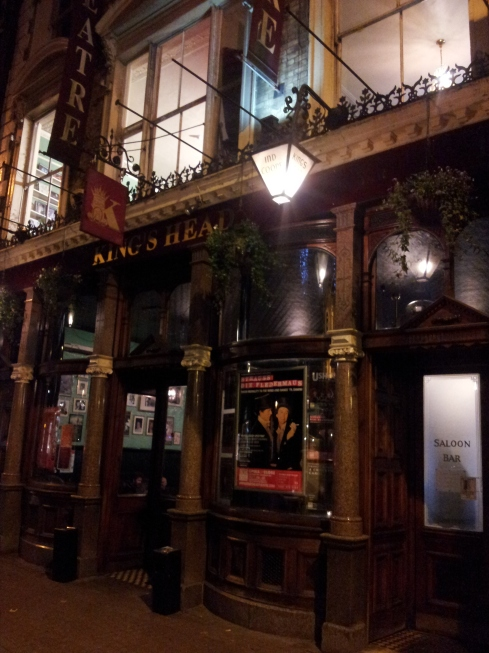 During La Boheme the start of Act 2 takes place in the bar – a perfect location for the King's Head pub which has had a theatre attached since 1970.