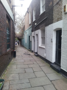 Are we nearly there yet? Just down this alley there's a puppet theatre.