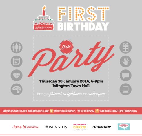 Here To 1st Birthday invitation