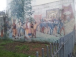 Tolpuddle Martyrs mural by Edward Park, near xxx.