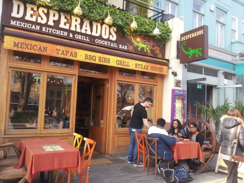 Desperados - another Mexican style eatery, this one is on Upper Street.