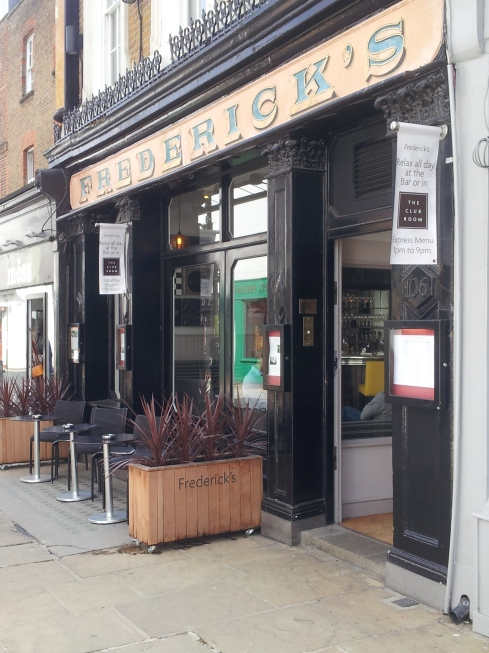 Fredericks in Camden Passage will be holding a breakfast event for local businesses on 10 June, and several football receptions on 12 June when the World Cup starts, during Islington Giving Week 2014.