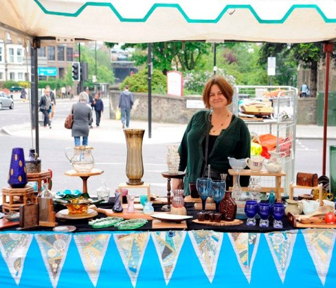 Stephanie Smith: founder and manager of Archway Market - held every Saturday at the top of Holloway Road.