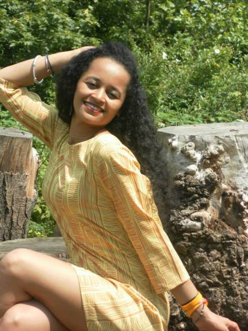 """Hanisha Solomon, one of a new generation of singers from Ethiopia: """"Be aware of people in power. There's always war and corruption – know how to fight corruption and how to live in peace and harmony."""""""