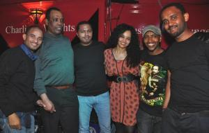Hanisha Solomon and the band.