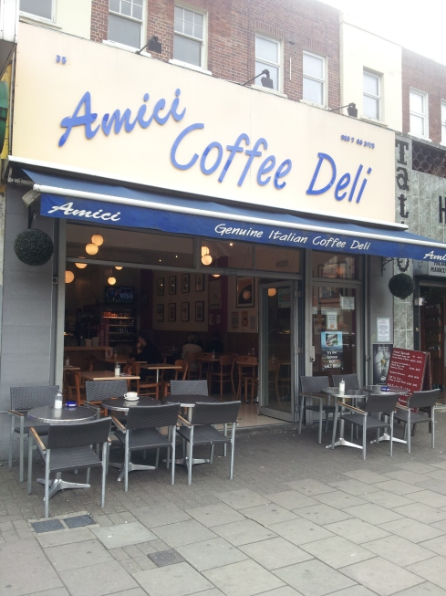 An independent treasure for coffee and meals on Holloway Road (opposite Argos).