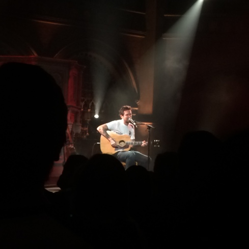 Holloway local Frank Turner playing a Shelter fundraising gig at Union Chapel (Dec 2015). (c) Lola May