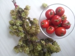This season's hops from Kent with John's homegrown tomatoes raised on his balcony.