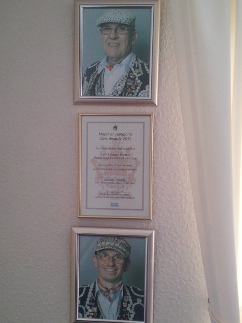 Pearly King and Pearly Prince portraits.