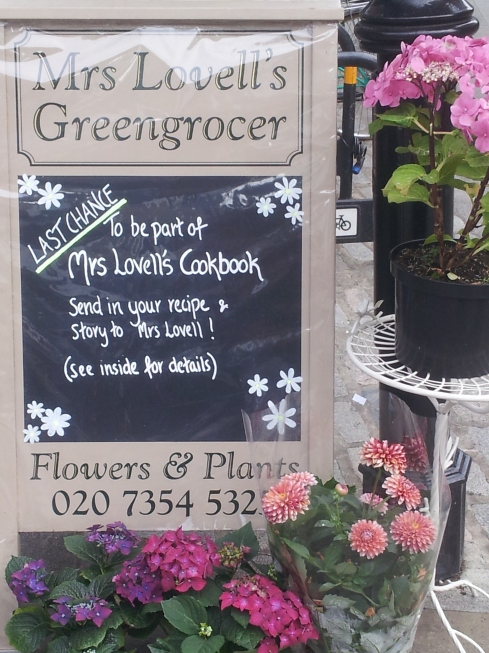Anna is helping customers of Mrs Lovell's the Greengrocer pool their recipes. You've just got time to submit your's.