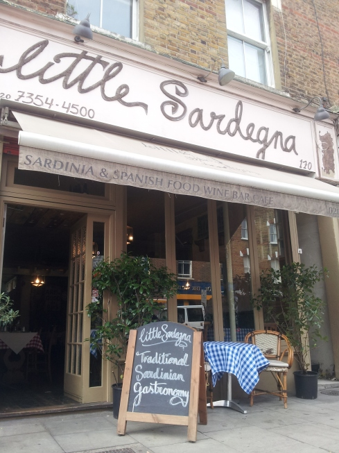 Find Little Sardegna at xx Blackstock Road, N4.
