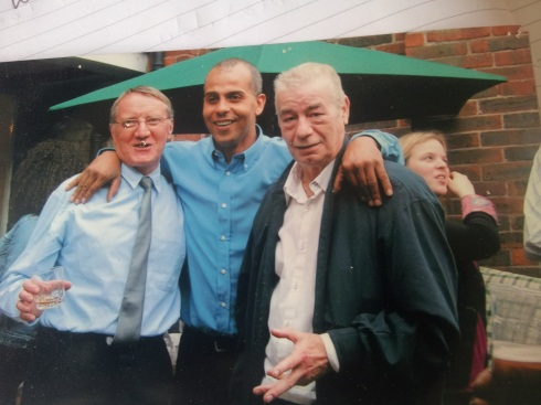 "Colin Small, Cass Farrell and Tony Davis. ""I don't want to think about where I'd be now if I hadn't met these two guys."" Colin retired in 2008 but lives round the corner from the joinery. Sadly Tony passed away in 2010."