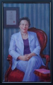 Anne Weyman's portrait by Johnny Jonas, who lives in Devon, was a gift from her husband, Chris.