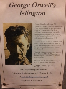 Andy Gardner's flyer for his George Orwell walk.