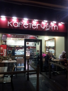 Kafeteryem just by Caledonian Road tube is opposite a block of flats that used to be a vast bingo hall.