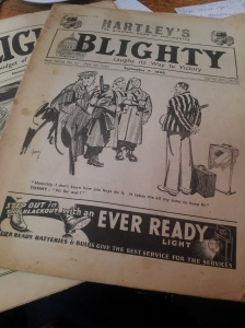 Once Chris Evans decided to call his business Blighty he discovered it's been a popular name - here are 1940s magazines.