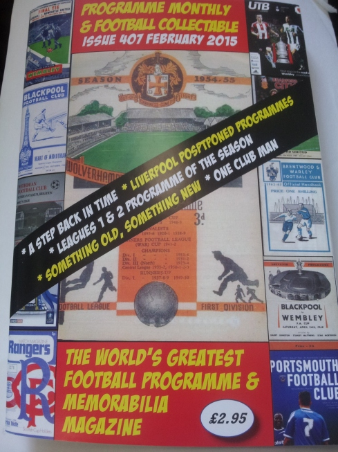 The football memorabilia fans' essential reading - Programme Monthly & Football Collectable, www.programmemonthly.com @ProgMonthly