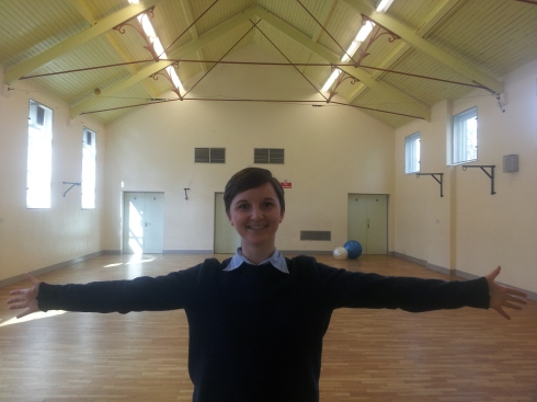 "Chloe Holmes: ""Look at Elizabeth House's lovely hall! On Wednesday mornings from 9.30-10.30am there's an active women's fitness class and it's free. It's open to everyone too, so I go. Last week my legs really ached. This week it's my arms that hurt."""