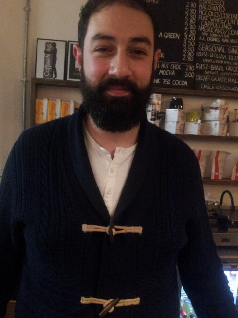 """Peter Theokliou: """"I'd grown up in an Islington family business so wasn't daunted about opening Coffee Works Project up. The most exciting thing was putting my own stamp on things."""""""