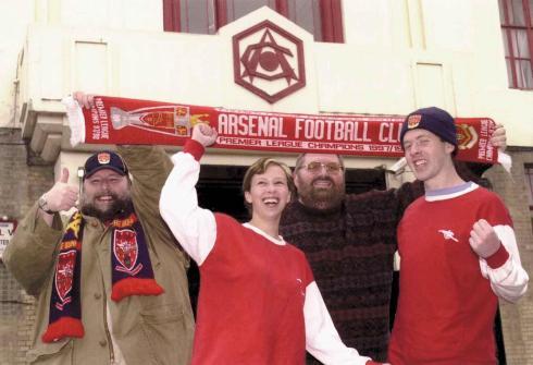 Celebrating news of the new stadium.