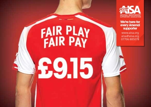 AISA will be asking the Club to commit to the London Living Wage.