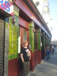 "Landlord Adrian Clarke: ""The Lamb Beer & Liquor is a bohemian place. We're not a football pub with screens but if you are an Arsenal fan and you come up the side of the road from Highbury we're the first pub you find. Match days are really busy: lots of guys come in here before the match for a pint."""