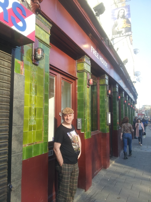 """Landlord Adrian Clarke: """"The Lamb Beer & Liquor is a bohemian place. We're not a football pub with screens but if you are an Arsenal fan and you come up the side of the road from Highbury we're the first pub you find. Match days are really busy: lots of guys come in here before the match for a pint."""""""