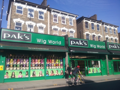 Pak's on Stroud Green Road has four shops - this one specialises in wigs.