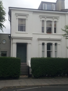 Is this the house the Grossmiths imagined Pooter living in. It's so close to Holloway Road that it does explain the number of visitors at the side and unopenable front door.