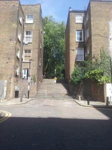 Gwynne Place (aka Riceyman Steps) summer 2015, taken from the Travel Lodge.