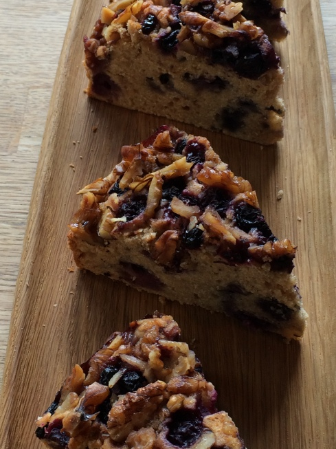 Blueberry cake with toasted walnuts made by Tomoko. (c) Highbury Arts Club