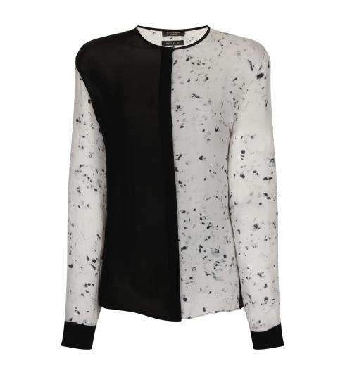 Two-tone shirt create using peace silks. (c) kitty ferreira