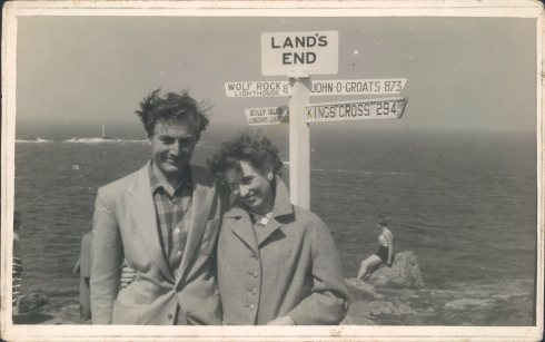 Ivy and husband Bob on holiday not long after their wedding in 1957. (c) Ivy Freeman