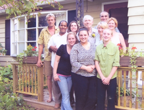 "In 2007 Ivy and Bob celebrated their 50th wedding anniversary. Ivy: ""One of the photo's I sent is of our family taken on our 50th wedding anniversary, this does not include our youngest grandson Connor or our first great grandson Nathaniel, they had not yet been born. They are amazing and a great joy to me, I worry about the environmental damage they will inherit, while at the same time I'm encouraged to do my bit however small, for them."" (c) Ivy Freeman"
