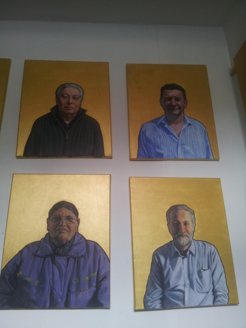 "Holloway icons include neighbours as well as ""the guy from the kebab shop, and a guy from the bike shop who never even saw his painting, Alex who runs the Euro Café round the corner, my doctor. They can be seen on Garry Kennard's website and have been exhibited at Robert Devcic's GV Art Gallery and at the Holloway Arts Exhibition run by Rowan Arts at Hornsey Street. ""I tried to get autobiographies but only managed with half the people."" See the whole collection at www.garrykennard.com"