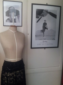 Dressmaking dummy in Annemarie Norton's studio - cleverly positioned by Aubrey Hepburn.