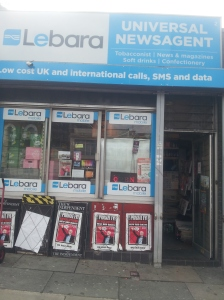 Newsagent at Highbury & Isilngton station.